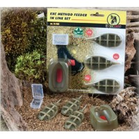 Extra Carp Method Feeder Set 20,30,40g + formička