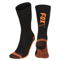 Fox Collection Socks Fox Black / Orange Thermolite long sock 6 - 9 (Eu 40-43)